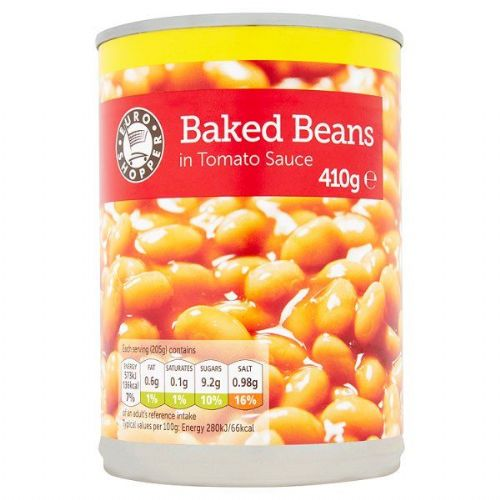 Euro Shopper Baked Beans in Tomato Sauce 410g (UK)
